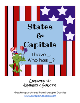 I Have, Who Has States & Capitals