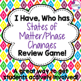 States of Matter/Phase Changes I Have, Who Has Review Game
