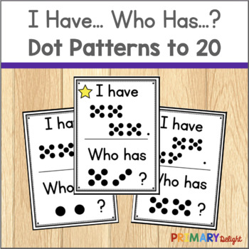 Subitize: I Have... Who Has...? Dot Patterns to 20
