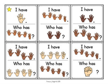 Subitize: I Have... Who Has...? Finger Patterns to 30