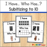 Subitizing to 10 Game with Ten Frames and Fingers and Tally Marks