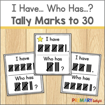 Subitize: I Have... Who Has...? Tally Marks to 30