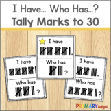 Subitizing Game with Tally Marks to 30 | I Have Who Has