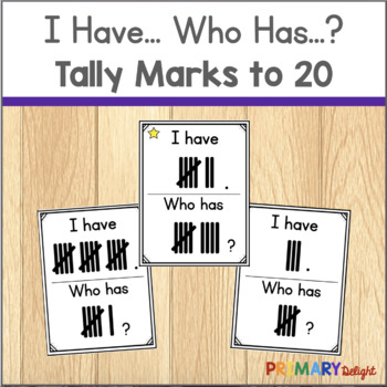Subitize: I Have... Who Has...? Tally Marks to 20