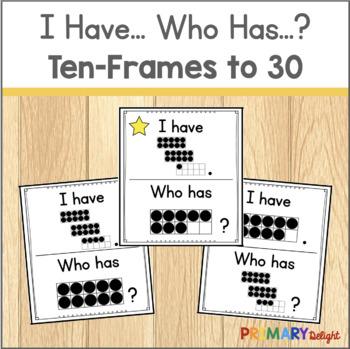 Subitize: I Have... Who Has...? Ten-Frames to 30