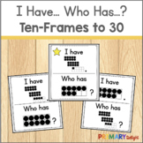 Subitizing Game with Ten Frames to 30 I Have Who Has