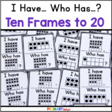 Ten Frames Game with Numbers to 20 using I Have Who Has