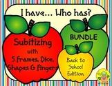 I Have. Who Has? Subitizing 1-5 Bundle (Back to School)