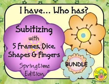 I Have. Who Has? Subitizing 1-5 Bundle (Spring)