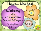 I Have. Who Has? Subitizing 1-5 Bundle (Spring)