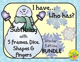 I Have. Who Has? Subitizing 1-5 Bundle (Winter)
