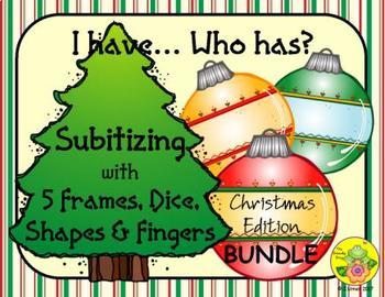I Have. Who Has? Subitizing 1-5 (Christmas)