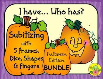 I Have. Who Has? Subitizing 1-5 Bundle (Halloween)