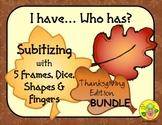 I Have. Who Has? Subitizing 1-5 Bundle (Thanksgiving)