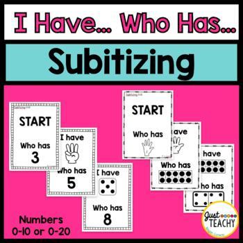 I Have, Who Has, Subitizing