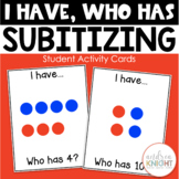 I Have - Who Has Subitizing Cards {Small Groups & Math Centers}
