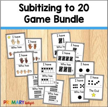 Subitize: I Have... Who Has...? Subitizing to 20 Bundle