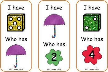 I Have. Who Has? Subitizing with Dice to 5 (Spring)
