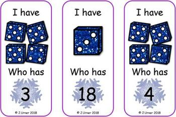 I Have. Who Has? Subitizing with Dice to 20 (Winter)