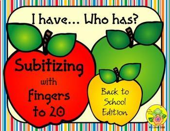 I Have. Who Has? Subitizing with Fingers to 20 (Back to School)