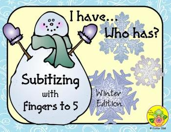 I Have. Who Has? Subitizing with Fingers to 5 (Winter)