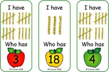 I Have. Who Has? Subitizing with Tallies to 20 (Back to School)