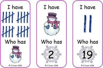 I Have. Who Has? Subitizing with Tallies to 20 (Winter)