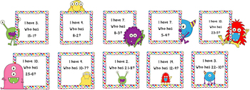 I Have, Who Has Subtract 1-10 Game Pack-Subtraction Fluency (Ten Games Included)