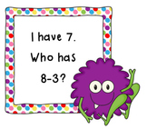 I Have, Who Has Subtract 3-CCSS Aligned