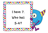 I Have, Who Has Subtract 4-CCSS Aligned