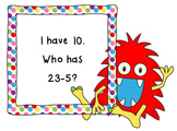 I Have, Who Has Subtract 5-CCSS Aligned