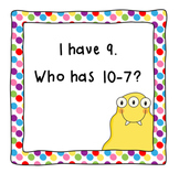 I Have, Who Has Subtract 7-CCSS Aligned