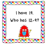 I Have, Who Has Subtract 9-CCSS Aligned