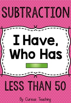 """Subtraction """"I have, who has"""""""