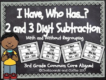 I Have Who Has Subtraction (2 and 3 Digit)