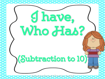 I Have, Who Has Subtraction
