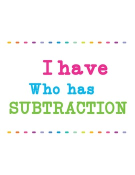 I Have Who Has Subtraction-26