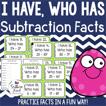 I Have, Who Has Game - Subtraction Facts