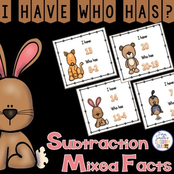 I Have Who Has Game Subtraction - Mixed Facts