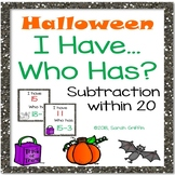 I Have, Who Has?  Subtraction within 20  Halloween