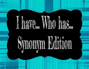 I Have... Who Has  Synonym Edition