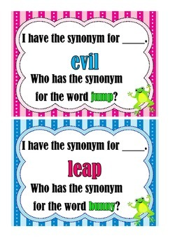 I Have... Who Has?  Synonyms