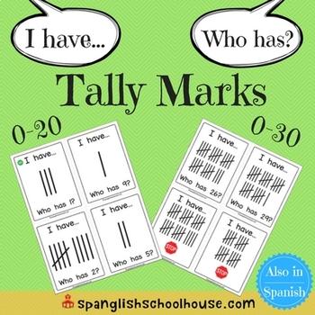 I Have, Who Has Tally Marks