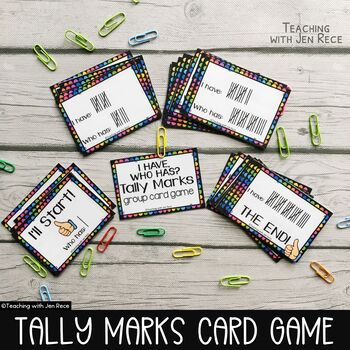 """Tally Marks Class Game - """"I Have, Who Has?"""""""