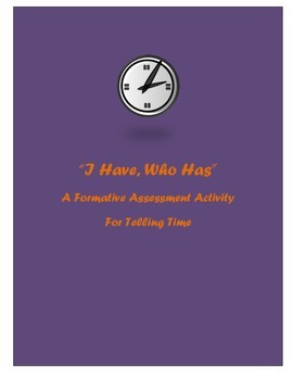 I Have, Who Has: Telling Time