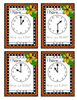 I Have Who Has - Telling Time
