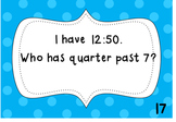 I Have, Who Has Telling Time-CCSS Aligned