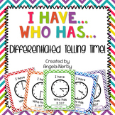 I Have, Who Has: Telling Time (DIFFERENTIATED!)