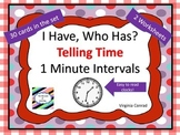 I Have Who Has? Telling Time Game--1 Minute Intervals