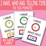 I Have, Who Has Telling Time to The Minute Printable Cards